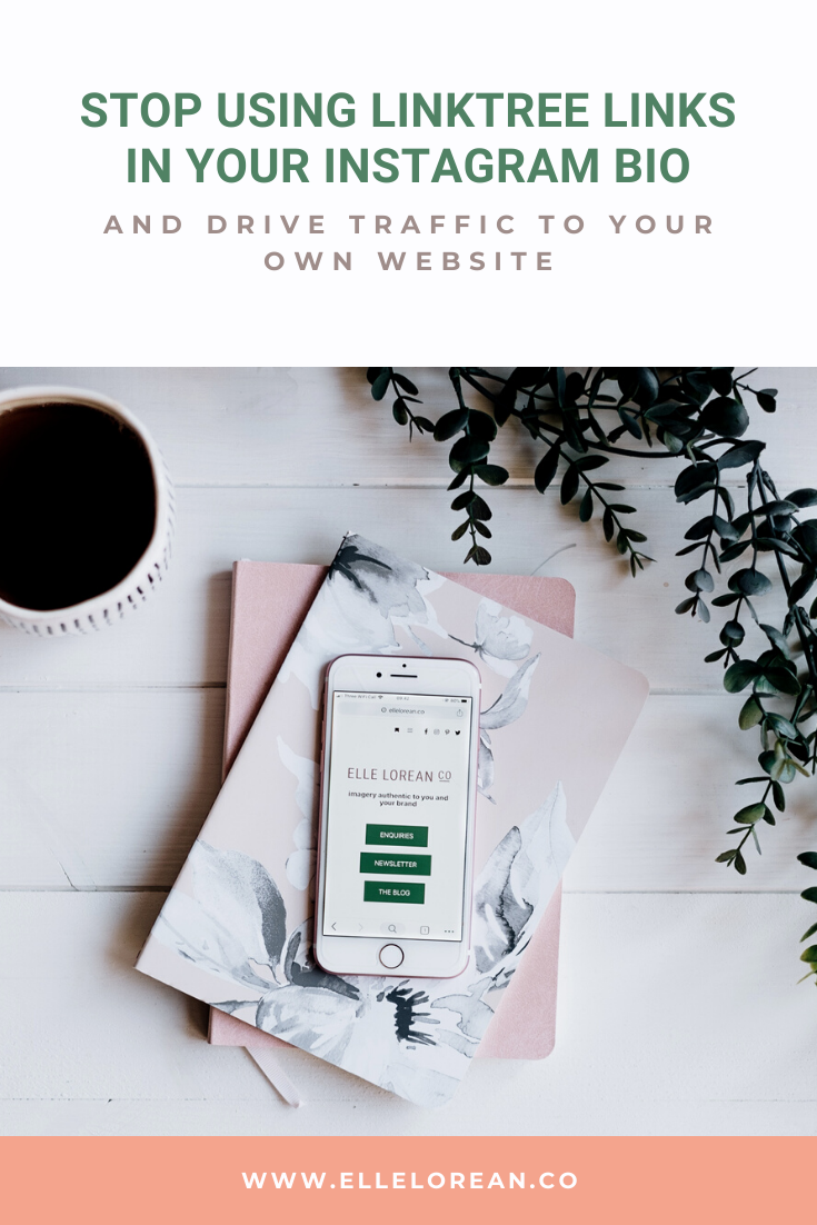 Stop using Linktree links in your Instagram Bio and drive traffic to your own website Stop using Linktree links in your Instagram Bio and drive traffic to your own website
