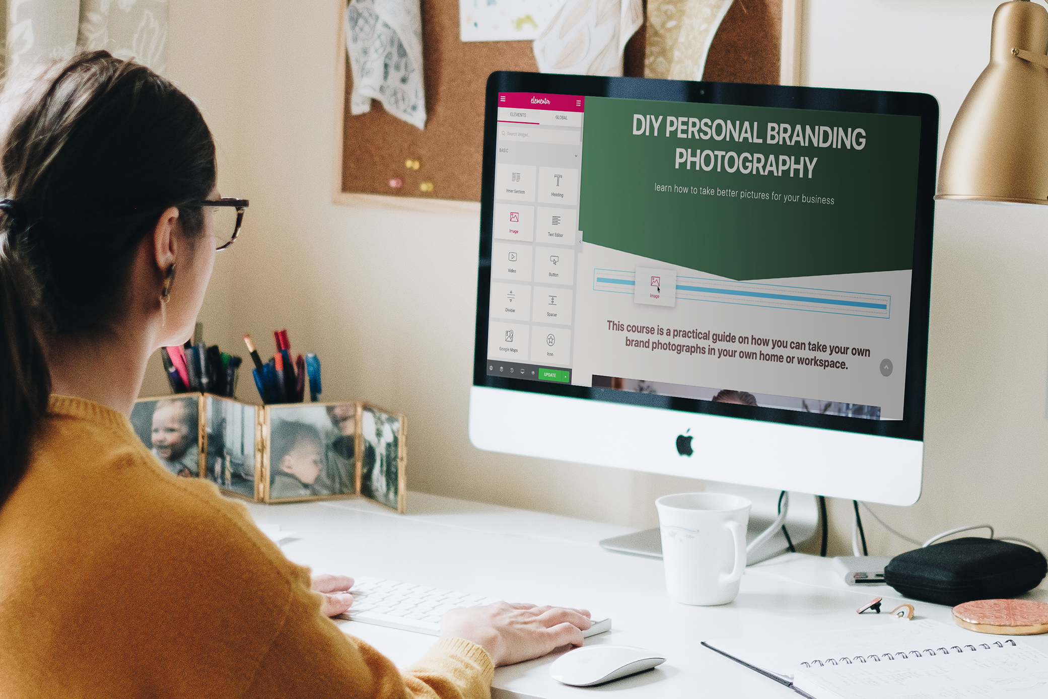 Elementor mockup The Best WordPress Page Builder for Creatives and Non-Techies