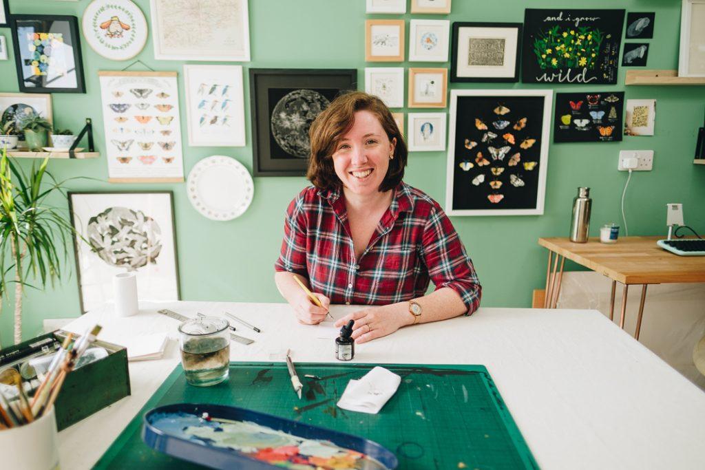 Sheffield Personal Brand Photographer 19 Casual Headshots for Artist & Illustrator | Nicola